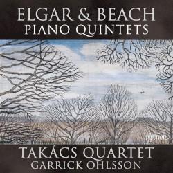 Piano Quintets by Elgar ,   Beach ;   Takács Quartet ,   Garrick Ohlsson