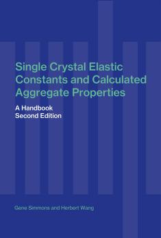 Cover of: Single crystal elastic constants and calculated aggregate properties | Simmons, Gene